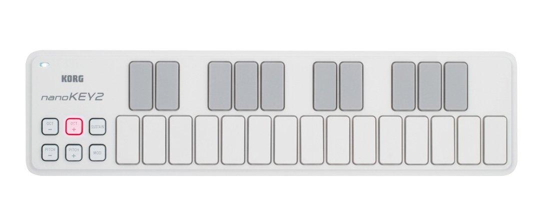 KORG nanoKEY2 - USB MIDI Keyboard - 25 Key - White