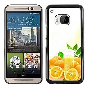 For HTC One M9 - Cool Orange Juice /Caja protectora de pl???¡¯????stico duro de la cubierta Dise???¡¯???¡Ào Slim Fit/ - Super Marley Shop -