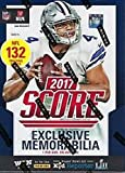2017 Score Football Blaster Box (11 Packs of 12 Cards: 1 Memorabilia, 33 Rookies, 5 Parallels, 22 Inserts on average)