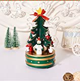 Alpacasso Cute Wooden Musical Box Featuring Christmas Trees for Children. (Green)