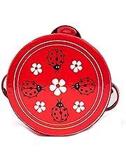 Trä hand trumma musikalisk tamburin beat instrument för baby pedagogisk leksak (slumpmässig) 1pc