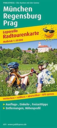München - Regensburg - Prag: Leporello Radtourenkarte mit Ausflugszielen, Einkehr- & Freizeittipps, wetterfest, reißfest, abwischbar, GPS-genau. 1:50000 (Leporello Radtourenkarte / LEP-RK)