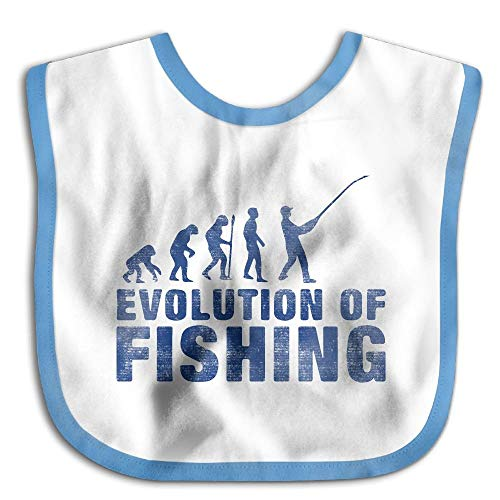 Evolution Of Fishing Royalblue Personalized Custom Baby Bibs Cute Baby Burp Cloths For Drooling And Teething Infant Bibs