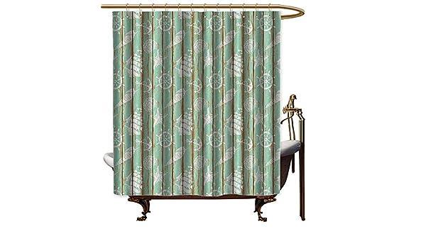 Cortinas de ducha para baño, color azul y gris, decoración de ...