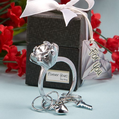 Diamond Design Keychain Wedding Favors