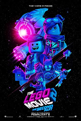 The Lego Movie 2 The Second Part Movie Poster Limited Wall Art Print Photo Chris Pratt, Elizabeth Banks Size 24x36#1