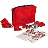Brady Breaker Lockout Sampler Pouch Kit, Padlocks Not Included