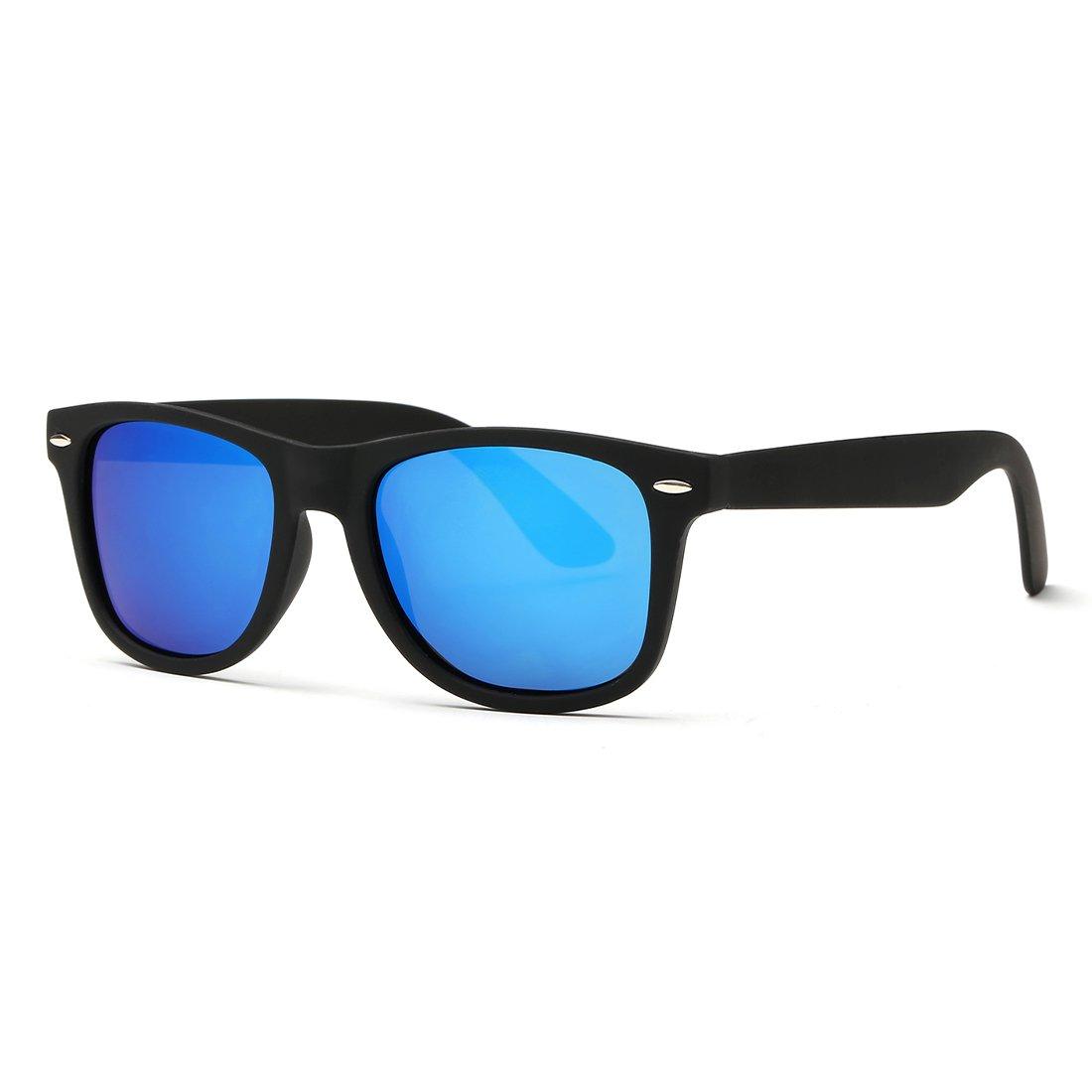 Kimorn Polarized Sunglasses Square Frame Horn Rimmed 80's Retor Glasses K0300 K0300-1