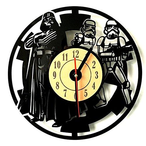 11.8'' Star Wars Darth Vader and Stormtrooper Artisan Laser-Engraved Wall Clock
