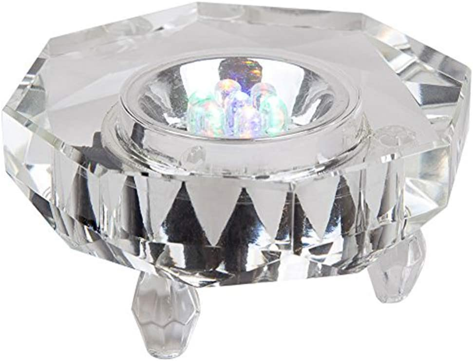 IFOLAINA LED Light Base Multicolor Crystal Show Stand Display Plate 7 LED for Crystal Glass Art
