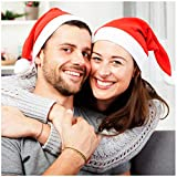 985b3ffca7480 Santa Hat - 20 Pack - Plain Design - Red   White - Wear at A Christmas  Party - Perfect Accessory for Santa Claus Costume - Celebrate Xmas with  Family   ...