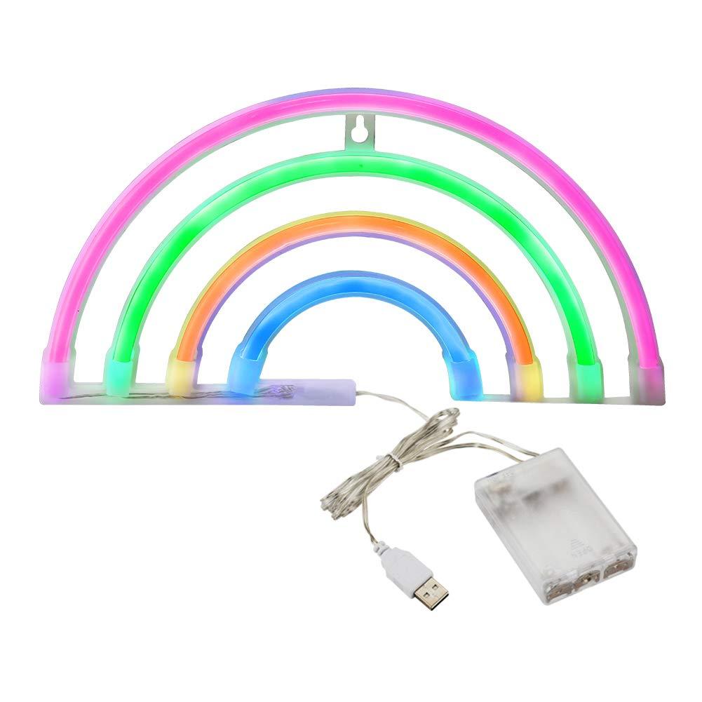 Amazon.com: Accmor - Luces nocturnas arco iris, luces de ...