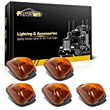 1995 dodge ram 3500 cab lights - Partsam 5x Amber Cab Roof Running Top Clearance Marker Light Cover/Lens+ 5xCab Base for 1999-2016 Ford E/F-250 350 450 550 Super Duty