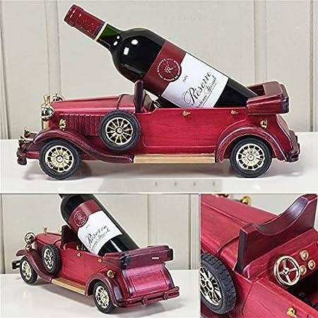 WHL Creativo Retro Vino Estante de Madera Hecho a Mano Modelo de Carro de Madera Adecuado para la Sala de Estar decoración del hogar decoración del hogar Rojo