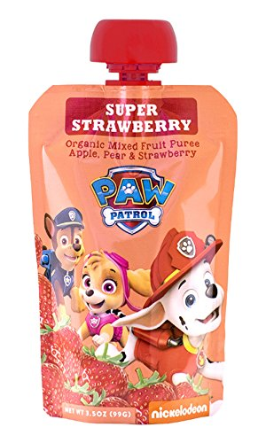 PAW Patrol Super Strawberry Organic Mixed Fruit Squeeze Pouch, 3.5 Ounces (Pack of 10)
