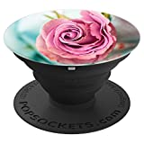 Rose Pink Bouquet Vase Flower Love Is Energy - PopSockets Grip and Stand for Phones and Tablets