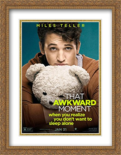 amazon com that awkward moment 28x36 double matted large large gold