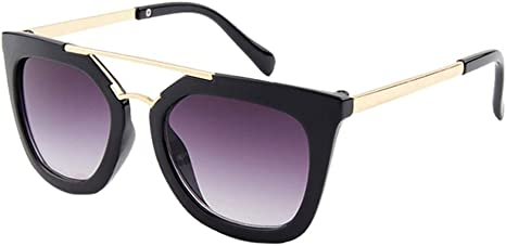 Kids Cat Eye Shades Fashion Sunglasses UV400 Protection Classic Eyewear Children Costume for Girls Boys Age 6-12 besbomig