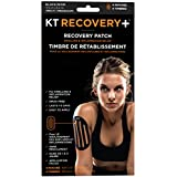 KT Tape Recovery+ Kinesiology Drug-Free, Edema Patches, 4 Pack, Black (KT TAPE Recovery Edema Patch)