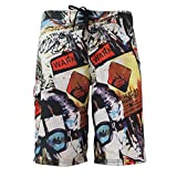 MADHERO Mens Quick-dry Polyester Contrast Color Lightweight Boardshorts (S-XL)