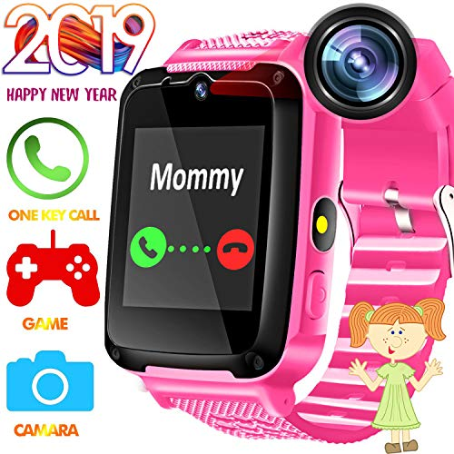 Phone Cell Camera Watch (Kids Phone Smart Watch - Kids Watch for Boys Girls with HD Touch Screen SOS Cell Phone Camera Game Toy Wearable Kids Smartwatch Digital Wrist Watch for Holiday Birthday Gift)