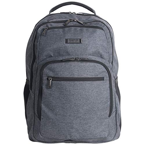 "Kenneth Cole Reaction Dual Compartment 17.3"" Laptop Backpack Charcoal One Size"