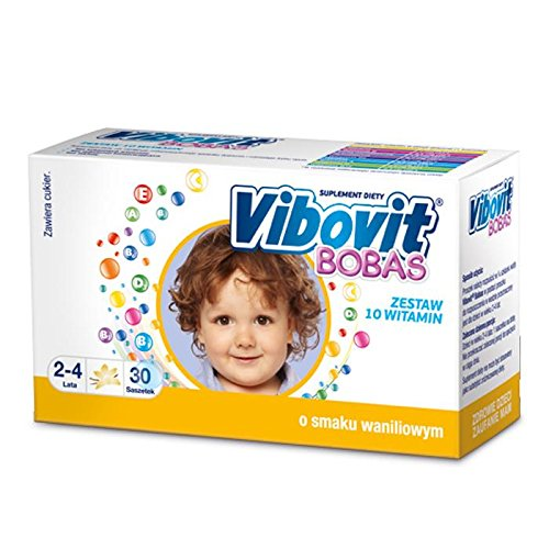 VIBOVIT BOBAS - 30 sachets - vanila flavor - is a set of 10 essential vitamins are important for the proper functioning of the body Vibovit Bobas complements the daily diet of children aged 2-4 years