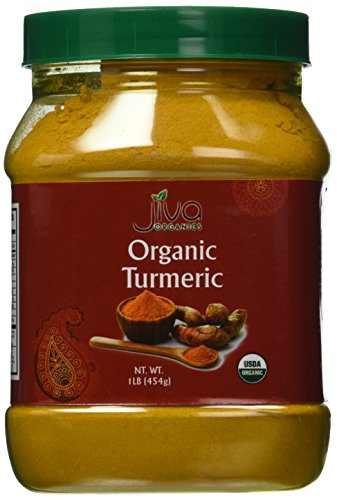 Jiva Organics USDA Organic Turmeric Powder, 1 - Ground Turmeric