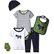 Yoga Sprout Baby 6 Piece Layette Set, Bear Collection, 0-3 Months