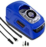 portable air compressor ac dc - EPAuto AC / DC 110V / 12V Dual Power Portable Air Compressor Pump w/ Digital Tire Inflator for Cigarette Lighter Socket (12V) and Home Outlet (110V)