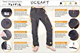 Ucraft Xlite Rock Climbing, Bouldering and Yoga Pants. Lightweight, Stretching, Breathable