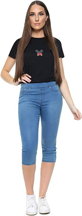 UC Womens Ex High Street Brand Capri Jeans Plus Size Jeggings Summer Clothes