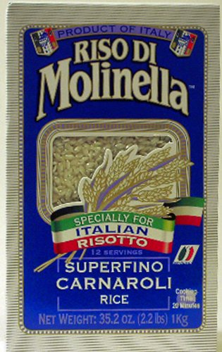 Riso Di Molinella Italian Carnaroli Rice, 2.2-Pound Boxes (Pack of 2)