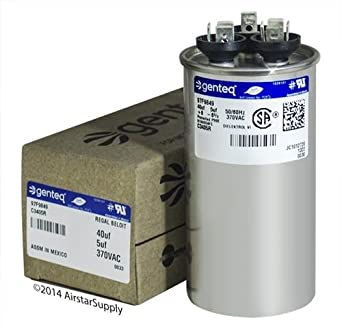 35 Pack 2 5 uf MFD 370//440 Volt VAC AmRad Round Dual Run Capacitor Made in The U.S.A. Luxaire 1499-5351
