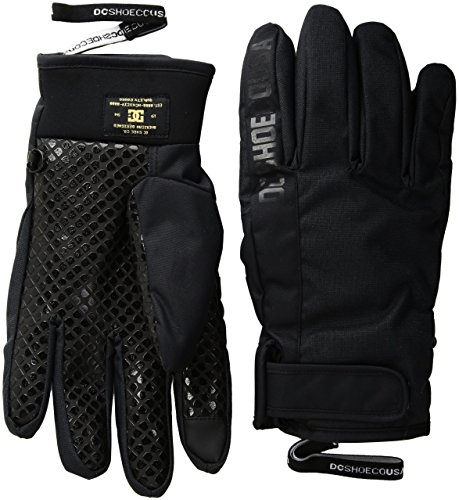 DC Men's Deadeye Snow Gloves, Black, L by DC