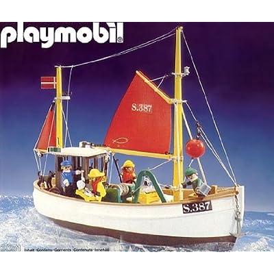 Amazon.com: Playmobil 3551 Fishing Boat/trawler (Old Time
