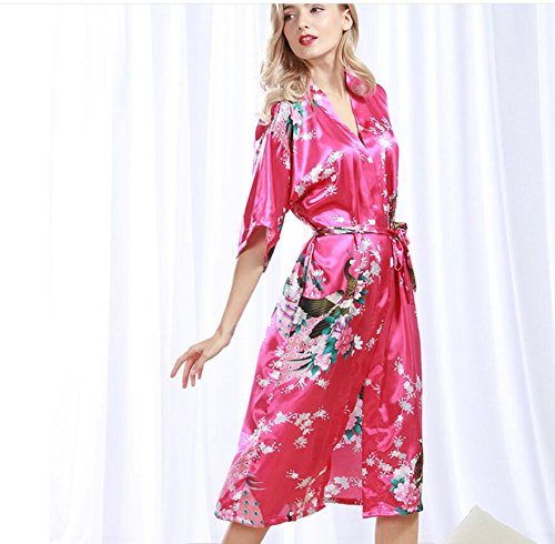 Amazon.com: LIUJIANGLONG LJ&L Blonde Gowns Ladies Summer Bathrobes Cardigan Sweater Skirt Silk Thin Pajamas Increase Kimono Robe,Shallow Purple,XL: Home & ...