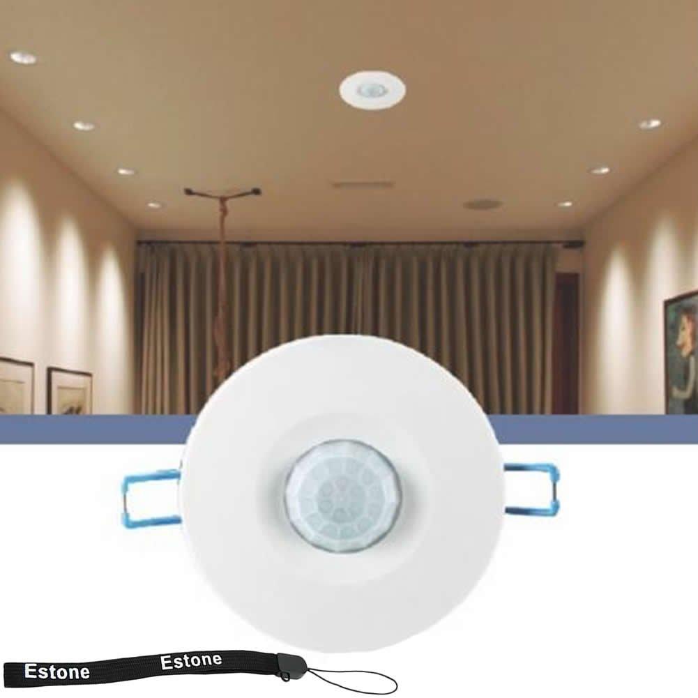 Amazon estone 220v recessed pir ceiling occupancy motion amazon estone 220v recessed pir ceiling occupancy motion sensor detector light switch home improvement aloadofball Choice Image