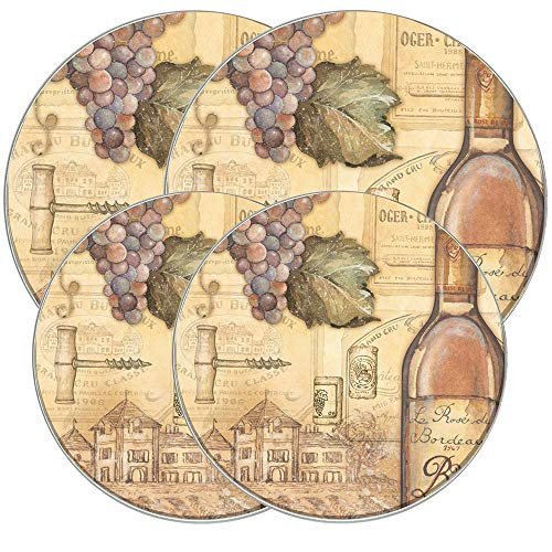 Range Kleen 5062 4 Pack Tuscany Wine Round Burner Covers with 2 8.5 Inch and 2 10.5 Inch ()