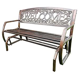 Amazon Com Leigh Country Double Seat Welcome Metal