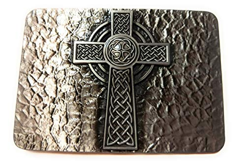 Cross Celtic Medieval Style Mens Belt Buckle ✖ Metal Antique Silver color SuperGifts ()
