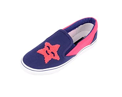 6cff39668112 Berry Purple Stylish Comfortable Embroided Casual Shoes for Girls. (39