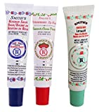Rosebud Perfume Co. Tube 3 Pack: Smiths Rosebud Salve + Smiths Strawberry Lip Balm + Smiths Minted Rose Lip Balm