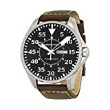 Hamilton Khaki Pilot Black Dial Leather Strap Mens Watch H64715535