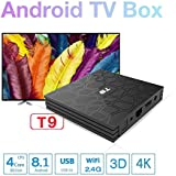 SHENGMO 2018 T9 tv box android 8.1 4GB RAM 32GB ROM Amlogic S905W tvbox Quad Core WiFi smart tv Box