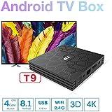 SHENGMO 2018 T9 tv box android 8.1 4GB RAM 32GB ROM Amlogic S905W tvbox Quad Core WiFi smart tv Box