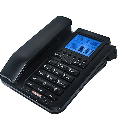 KerLiTar K-P039 2-Line Corded Telephone with Caller ID 3-party conferencing Function Home Office Desk Phone with Speed Dial