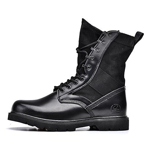 Herren freizeitschuhe kleid bergsteigen herbst outdoor [leise unten] stiefel rutschen schwarzbraun-schwarz Fußlänge=42EU
