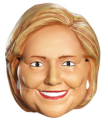 [Disguise Costumes Hillary Clinton Vacuform 1/2 Mask, Adult] (Clinton Costume Party)