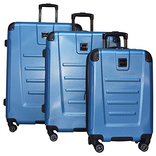 Kenneth Cole Reaction Get Away 3 Piece Expandable Spinner Set: 29'', 25'', and 20'' (Ocean Blue) by Kenneth Cole REACTION